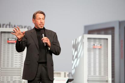Opening Keynote,Larry Ellison, CEO of Oracle.