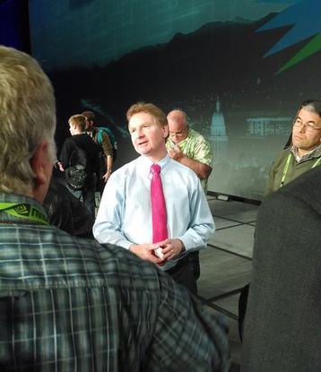 D-Wave  business-development director Colin Williams talks to supercomputer administrators about quantum computing