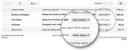 """Google has added new """"quick action"""" buttons to Gmail so people can deal with messages without opening them"""