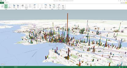 A Microsoft Power BI Power Map