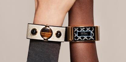 Intel's MICA smart bracelet is a fashion accessory that can display SMS messages and calendar events.