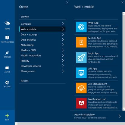 Microsoft Azure now provides easy route to building cloud-based Web and mobile applications