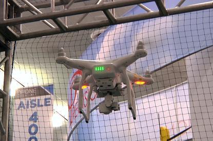 A DJI Phantom 3 drone seen during a demonstration in San Jose, California, on Nov. 17, 2015. Credit: Martyn Williams
