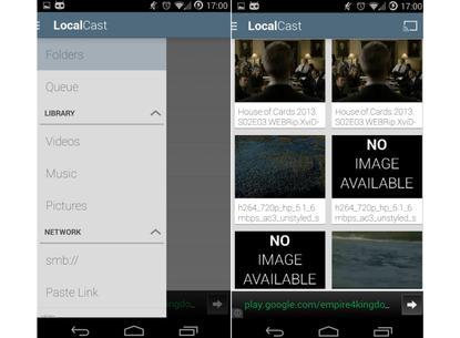 Use LocalCast to stream locally stored files to Chromecast.