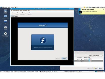 Fedora 11 running another installation of Fedora as a virtual machine