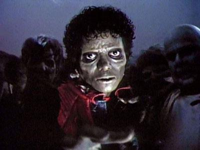Jackson, in his iconic Thriller role.
