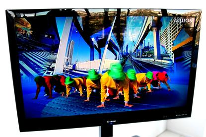 This pre-production Sharp LED television is similar to the LC-40LE700EX.
