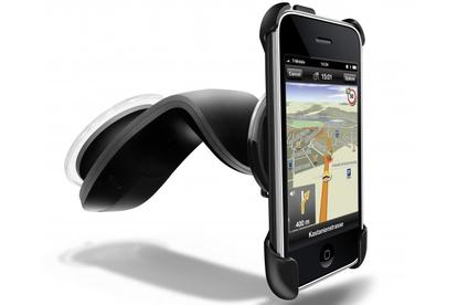 Navigon's car cradle for the iPhone