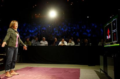 Microsoft demonstrates Kinect.