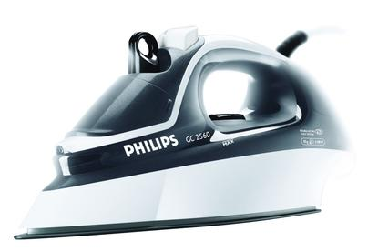 A Philips steam iron.
