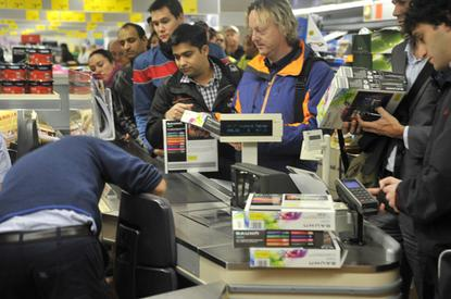 Aldi's North Sydney store sold out of Bauhn Android tablets in just a few minutes.