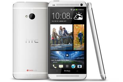 The HTC One Android smartphone.