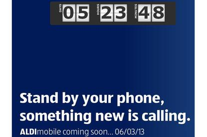 The Aldi Mobile website currently includes a countdown timer to next Wednesday 6 March at 8.30am.