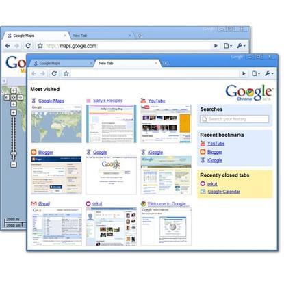 Google's Chrome Web browser for Windows