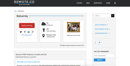 Remote.co offers information and best practices for managing remote workers.