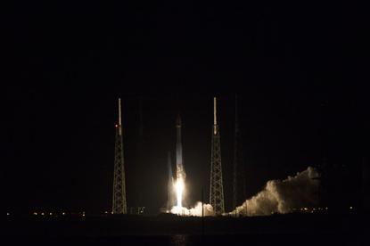 NASA's TDRS satellite launching on an Atlas V rocket on January 23, 2014.