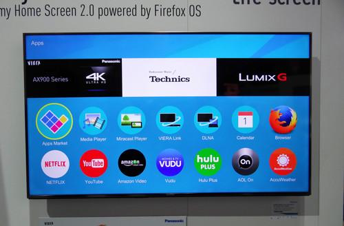 A Panasonic TV running Firefox OS on show at CES 2015 in Las Vegas