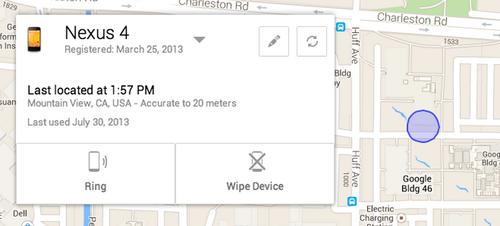An example screenshot of a Android phone locator coming later in August, published by Google on Friday