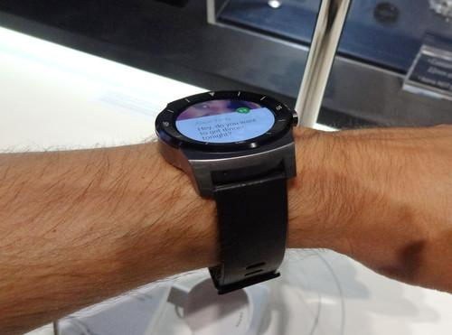 LG's G Watch R smartwatch on show at IFA Berlin on September 4, 2014.