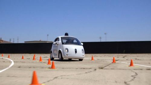 Google's self-driving car prototype, seen in a company promotional video