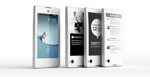 The YotaPhone is both a smartphones and an e-reader, thanks to its two screens.