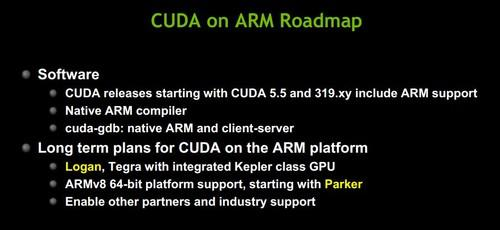 Nvidia's roadmap for CUDA on ARM