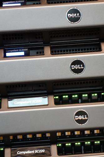 A Dell Compellent storage array.