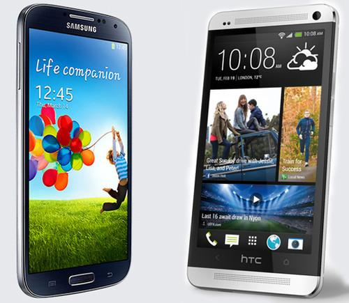 Samsung's Galaxy S4 and HTC's One smartphones
