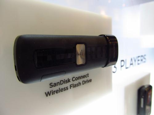 SanDisk upped the capacity of its thumb-sized Connect Wireless Flash Drive, which can stream to multiple devices at once.