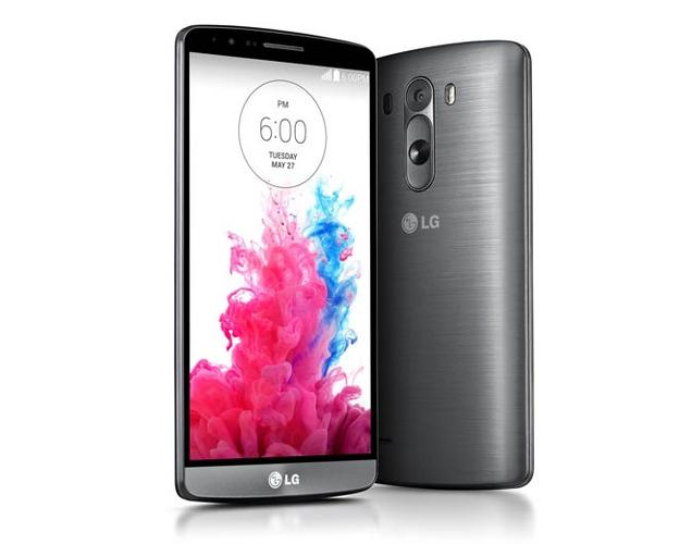 The LG G3 weighs 149 grams. Rear volume buttons keep the side bezels lean