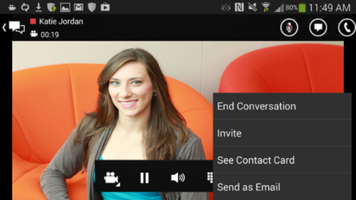Microsoft has released a new version of its Android app for Lync that now works also on tablets, not just smartphones