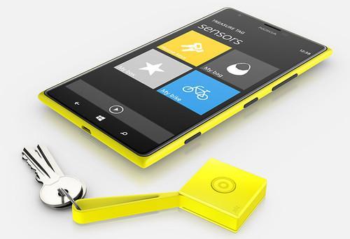 Nokia's Treasure Tag helps users find misplaced keys.