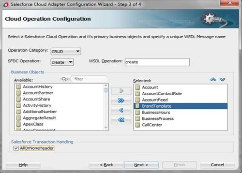 The Oracle Cloud Adapter for Salesforce provides a way of moving between Salesforce.com and Oracle applications