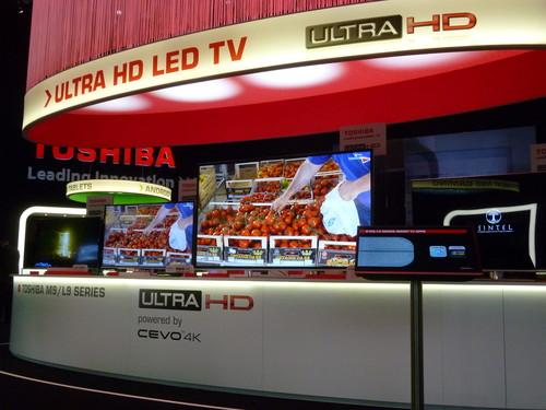 Toshiba 4K TV on show at the IFA electronics expo in Berlin