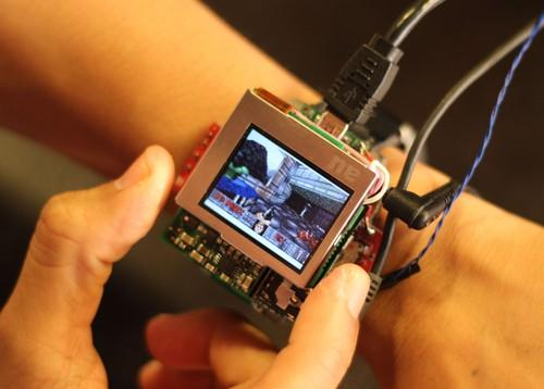 This prototype smartwatch developed at Carnegie Mellon University gives users more input options by being able to tilt, click or twist its face.