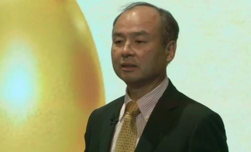 SoftBank CEO Masayoshi Son tells investors in November 2014 that his company wants to be like the goose that laid the golden eggs.