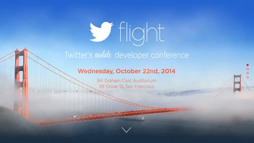 Landing page for Twitter's Flight mobile developer conference, pictured Sept. 10, 2014.