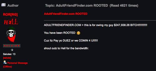 Adult Friend Finder Vs
