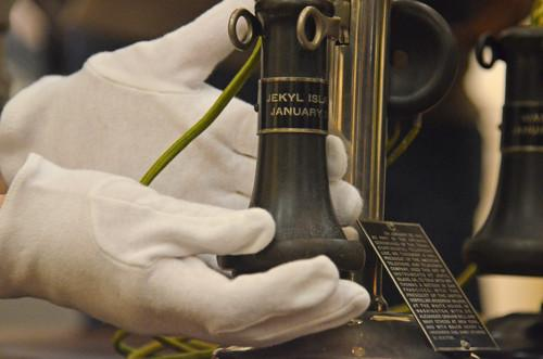 Phones used on the first transcontinental call on Jan. 25, 1915, were unveiled on Thursday in a preview of a centennial exhibit in San Francisco.