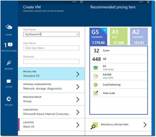 Microsoft Azure now offers a larger virtual machine, for big data work