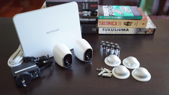 Netgear Arlo Home Security two-camera kit costs $589. The one-camera kit costs $389, while the three-camera kit costs $799. Each individual camera costs $249