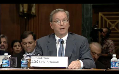 Google executive chairman Eric Schmidt, pictured during a 2011 U.S. Senate hearing.