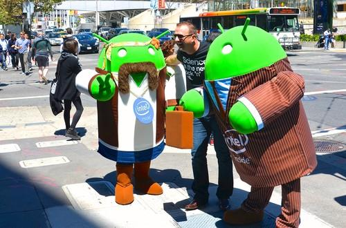 Android characters at Google I/O 2014