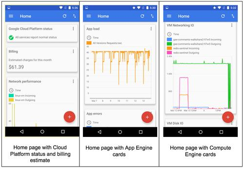 Google Cloud Console for Android screenshot