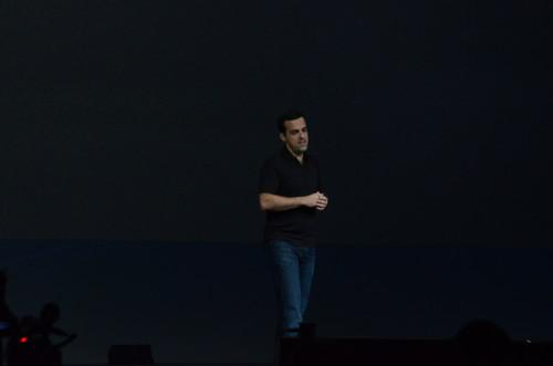 Hugo Barra gives the I/O Keynote
