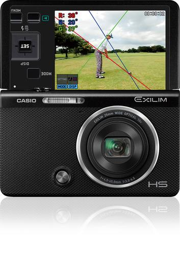Casio's Wi-Fi-equipped EX-FC500S digital camera takes videos of golfers' swings and then sends them to smartphones for review.