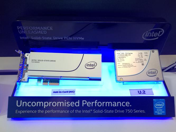"The two faces of Intel's NVMe SSDs. One plugs into a PCI slot, the other plugs into a ""mythical"" U.2 port."