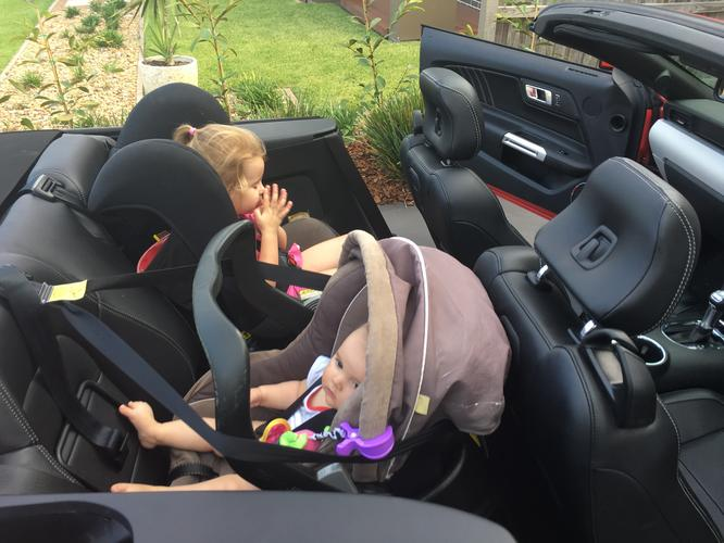 How To Fit Child Seats And Baby Capsule In A 2016 Mustang