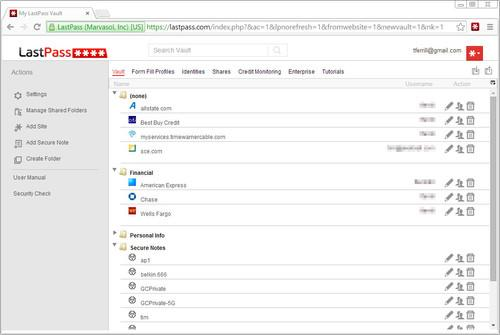LastPass is a cloud-centric password manager with an abundance of features and mobile clients.