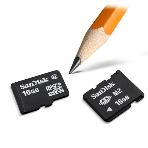 SanDisk's new 16GB micro memory cards